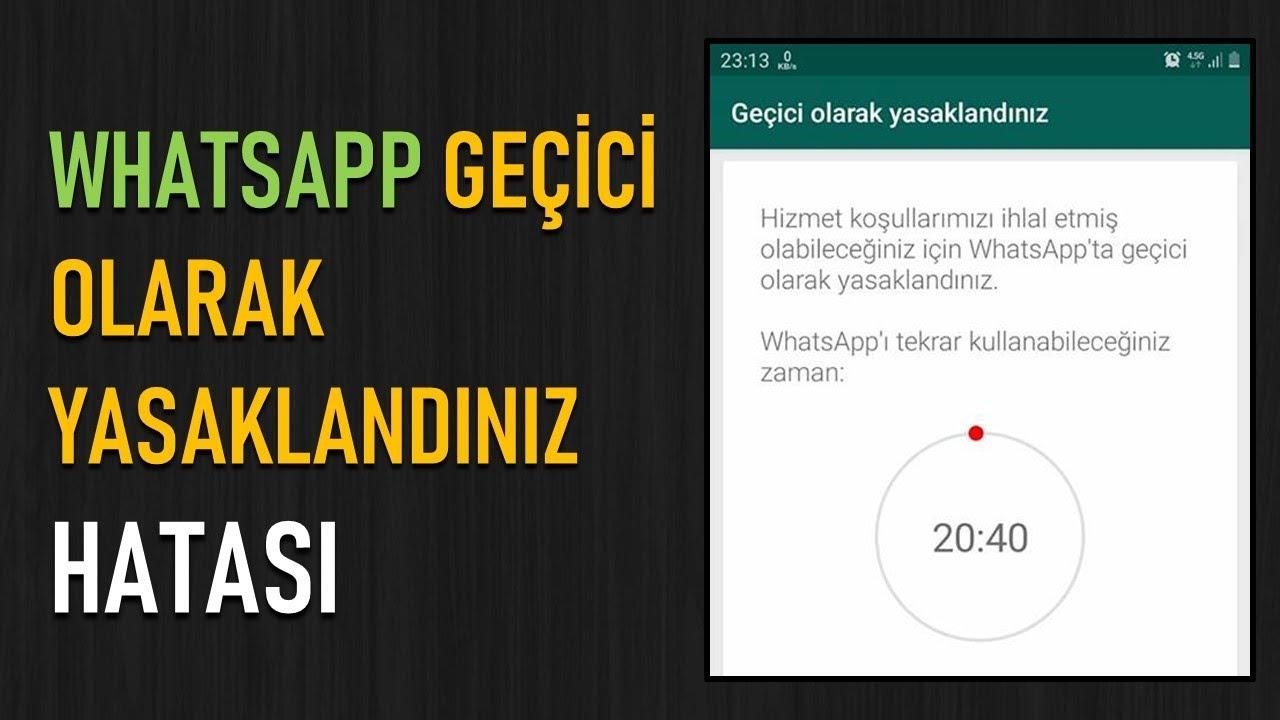 Whatsapp Kullanımı Yasaklandı Sorunu Çözümü